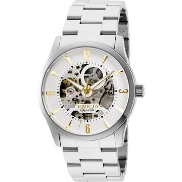 Invicta Men's 27581 'Objet D Art' Automatic Stainless Steel Watch - White