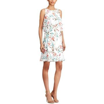 American Living Womens Party Dress Floral Popover