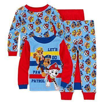 4-pc. Paw Patrol Pajama Set Toddler Boys