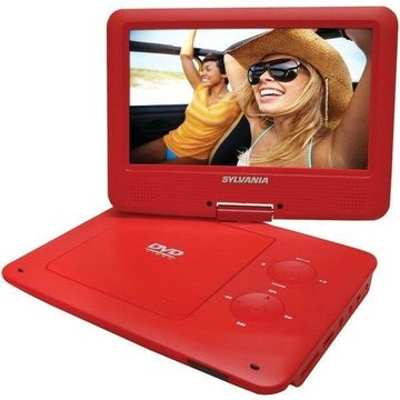 Sylvania SDVD9020B-RED 9 in. Portable DVD Players with 5-Hour Battery - Red