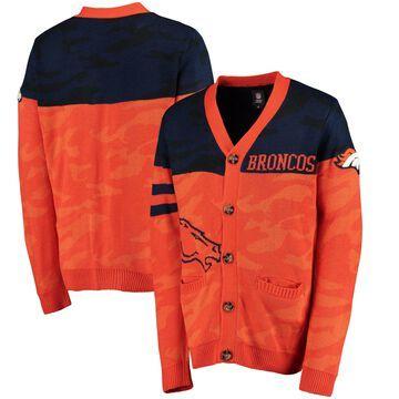Denver Broncos Klew Camouflage Cardigan - Orange