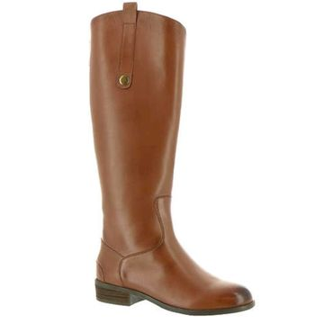 ARRAY Womens Derby Leather Round Toe Knee High Riding Boots