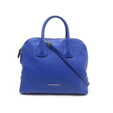 Burberry Blue Leather Handbag