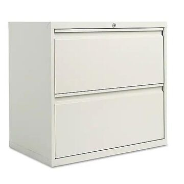 Two-Drawer Lateral File Cabinet, 30w x 19-1/4d x 29h, Light Gray