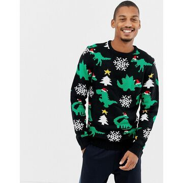 Another Influence Holidays Dinasour Sweater