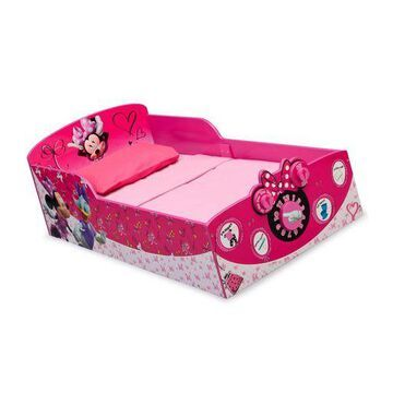 ''Delta Children Interactive Wood Toddler Bed, Disney Minnie Mouse''