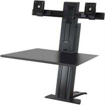 ''WorkFit-SR, Dual Monitor, Sit-Stand Desktop Workstation (Black)''