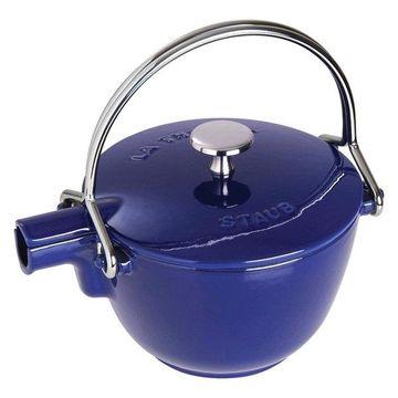 Staub Cast Iron 1-qt Round Tea Kettle - Dark Blue