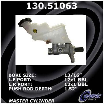 2014 Kia Rio Centric Premium Brake Master Cylinder, Premium Master Cylinder - P/N 130.51063