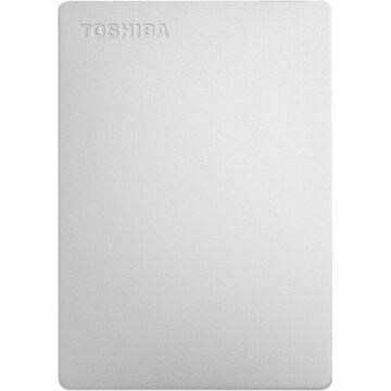 Toshiba - Canvio 2TB External USB 3.0 Portable Hard Drive - Silver
