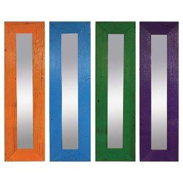 Rectangle Color Pop Mirror Set of 4 - PTM Images