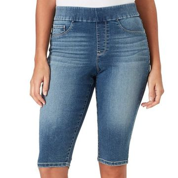 Women's Bandolino Thea Pull-On Midrise Denim Skimmer Capris