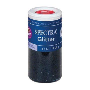 Pacon Spectra Glitter Sparkling Crystals, 4 oz. Jar, Black, 6/pkg