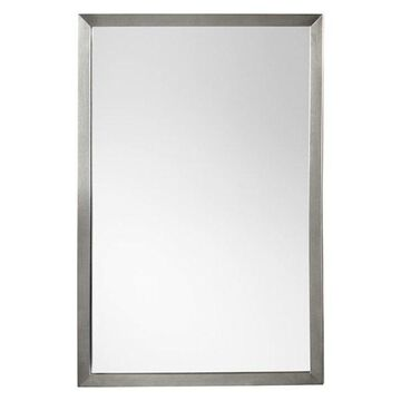 Ronbow 22 1/2 Contemporary Metal Framed Rectangular Bathroom Mirror, 603423-PC