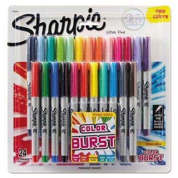 Sharpie Ultra Fine Tip Permanent Marker Color Burst Assortment 24/Pack 1949558