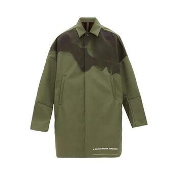 Undercover - A Clockwork Orange-print Technical Overcoat - Mens - Dark Grey