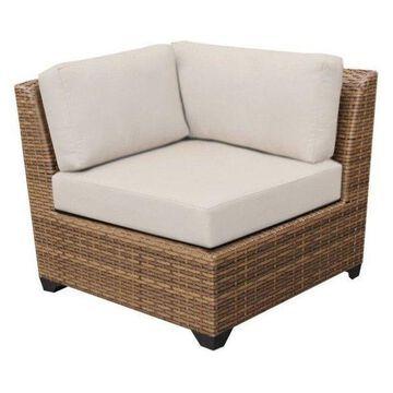 TK Classics Laguna Outdoor Wicker Corner Chair, Beige