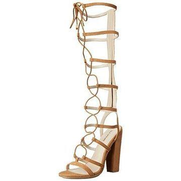 Call It Spring Women's ETIREWEN Heeled Sandal, Cognac, 7.5 B US