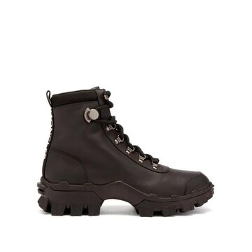 Moncler - Helis Lace-up Leather Hiking Boots - Womens - Black