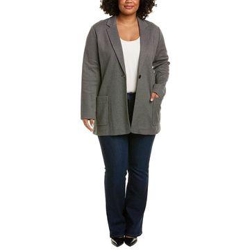 Joan Vass Womens Plus Jacket