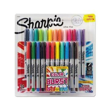 Crank up the color with the intensely bright, supercharged shades of Limited Edition Sharpie Color Burst Permanent Markers!