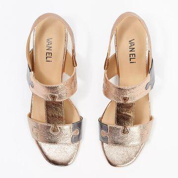 Vaneli Leather Puzzle Piece Heeled Sandals - Channa