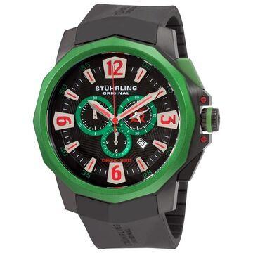 Stuhrling Original Men's Admiral Swiss Quartz Chronograph Rubber Strap Watch (Stuhrling Original Men's Watch)