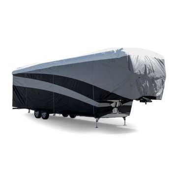 Camco ULTRAGuard Supreme RV Cover - Extremely Durable Design Fits Fifth Wheel Trailers 34' - 37', Weatherproof with UV Protection (56150)