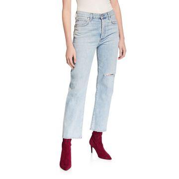 McKenzie Curved Straight-Leg Jeans