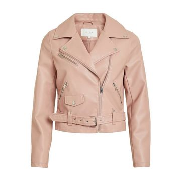 **Vila Pink Cropped Jacket