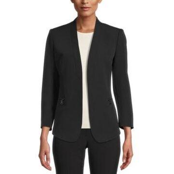 Anne Klein Collarless Open-Front Jacket