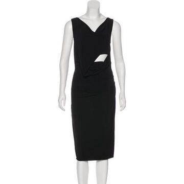 Ruched Midi Dress Black