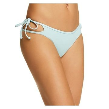 L Space Womens Side Tie Cut-Out Swim Bottom Separates - Light Teal