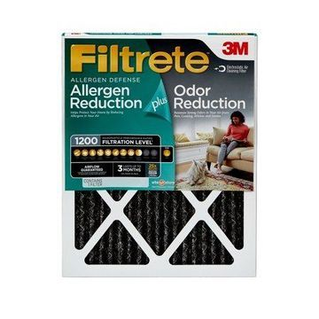 Filtrete 20x24x1, Allergen Plus Odor Reduction HVAC Furnace Air Filter, 1200 MPR, 1 Filter