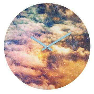 DENY Designs Shannon Clark Cosmic 12-Inch Round Wall Clock