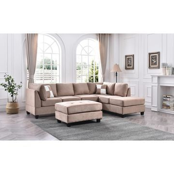 Gallant Microsuede Sectional Sofa