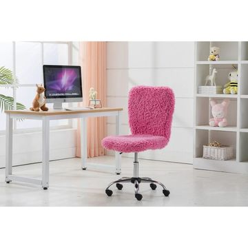 Porthos Home Alva Swivel Office Chair, Shaggy Fabric Upholstery