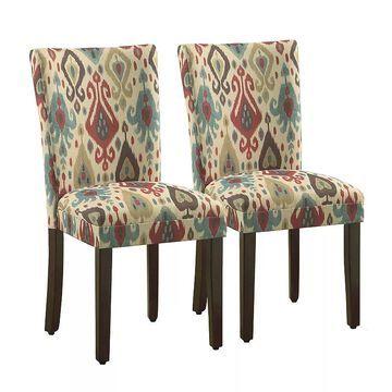 HomePop Parson Dining Chair 2-piece Set, Red