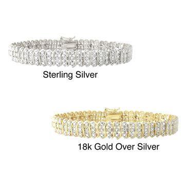 DB Designs Sterling Silver 1/8ct TW Diamond Bracelet