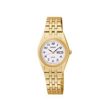 Seiko Womens Gold-Tone Solar Watch SUT118