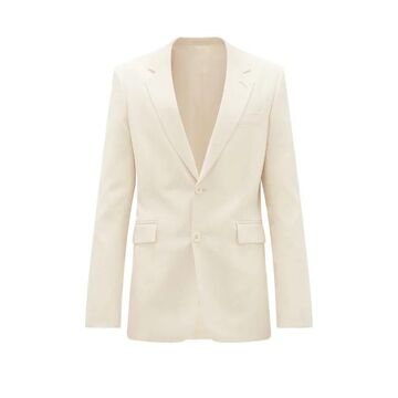 The Row - Noah Single-breasted Wool-blend Twill Suit Jacket - Mens - Cream