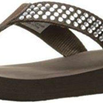 VOLATILE Women's Sweetie Wedge Sandal, Brown, 8 B US