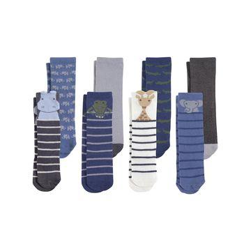 Luvable Friends Boys' Socks Safari - Safari Stripe Knee High Socks - Set Of Eight