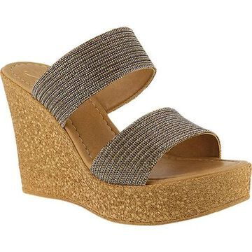 Azura Women's Fiora Wedge Sandal Bronze Synthetic