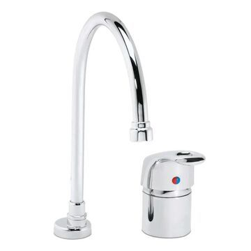 Speakman S-3661-CA 0.5 GPM Gooseneck Faucet with Ceramic Cartridge and Adjustable Temperature Limit Stop Polished Chrome Faucet Kitchen Single Handle