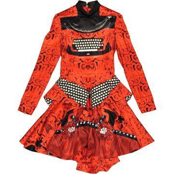 Mary Katrantzou Orange Silk Dresses