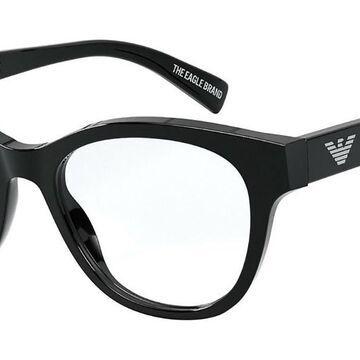 Emporio Armani EA3162 5001 Womenas Glasses Black Size 52 - Free Lenses - HSA/FSA Insurance - Blue Light Block Available