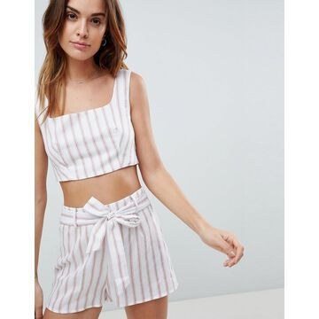 Fashion Union Stripe Crop Top