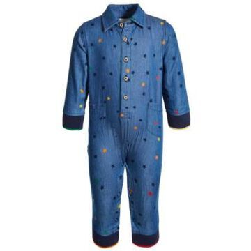 First Impressions Baby Boys Cotton Denim Boilersuit Coverall, Created for Macy's