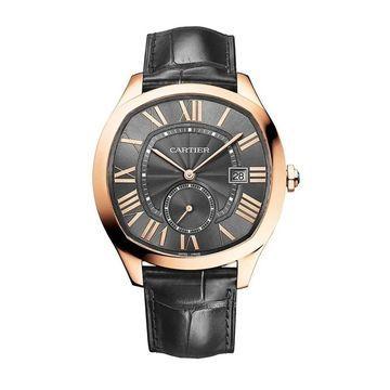 Cartier Men's WGNM0004 'Drive De Cartier' Black Leather Watch